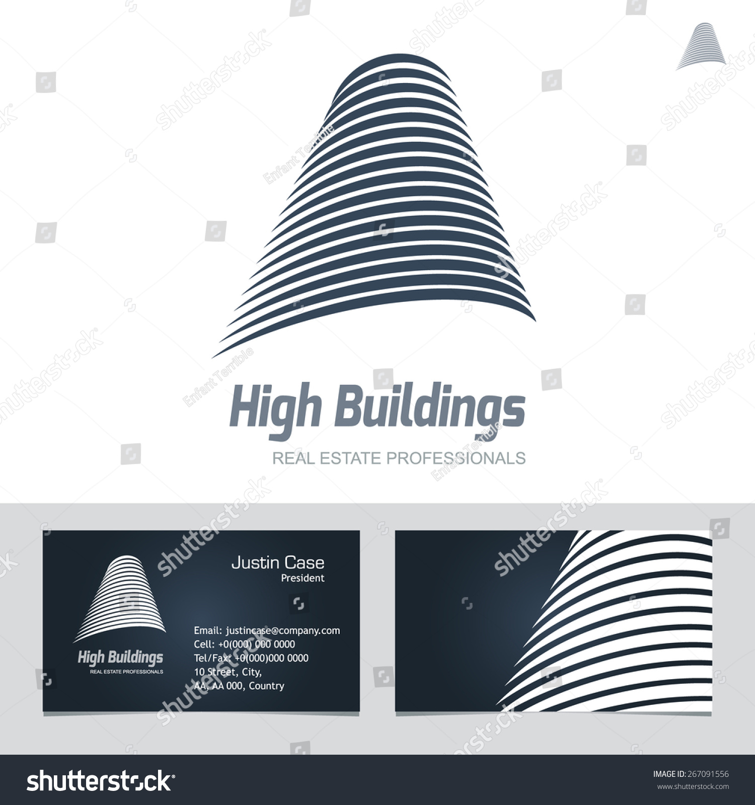 Real estate business sign business card stock vector 2018 real estate business sign business card vector template for architecture bureau insurance brokerage reheart Image collections