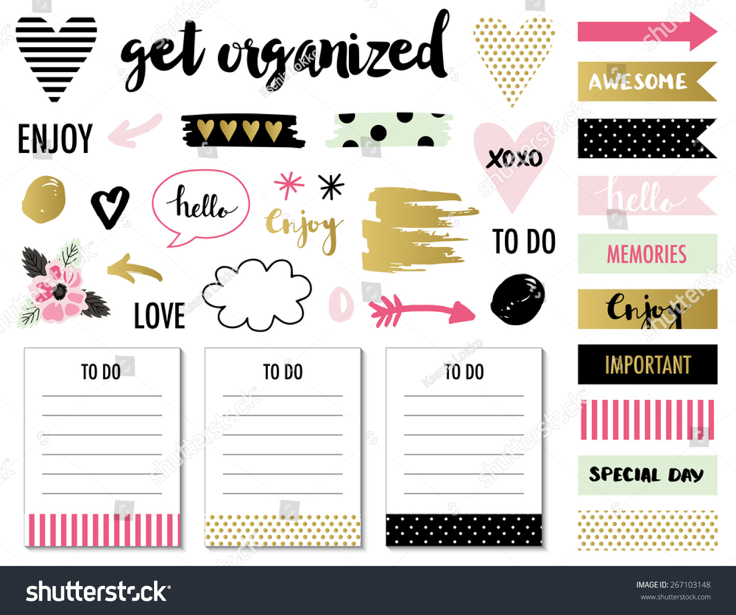 Signs And Symbols For Organized You Planner Template For