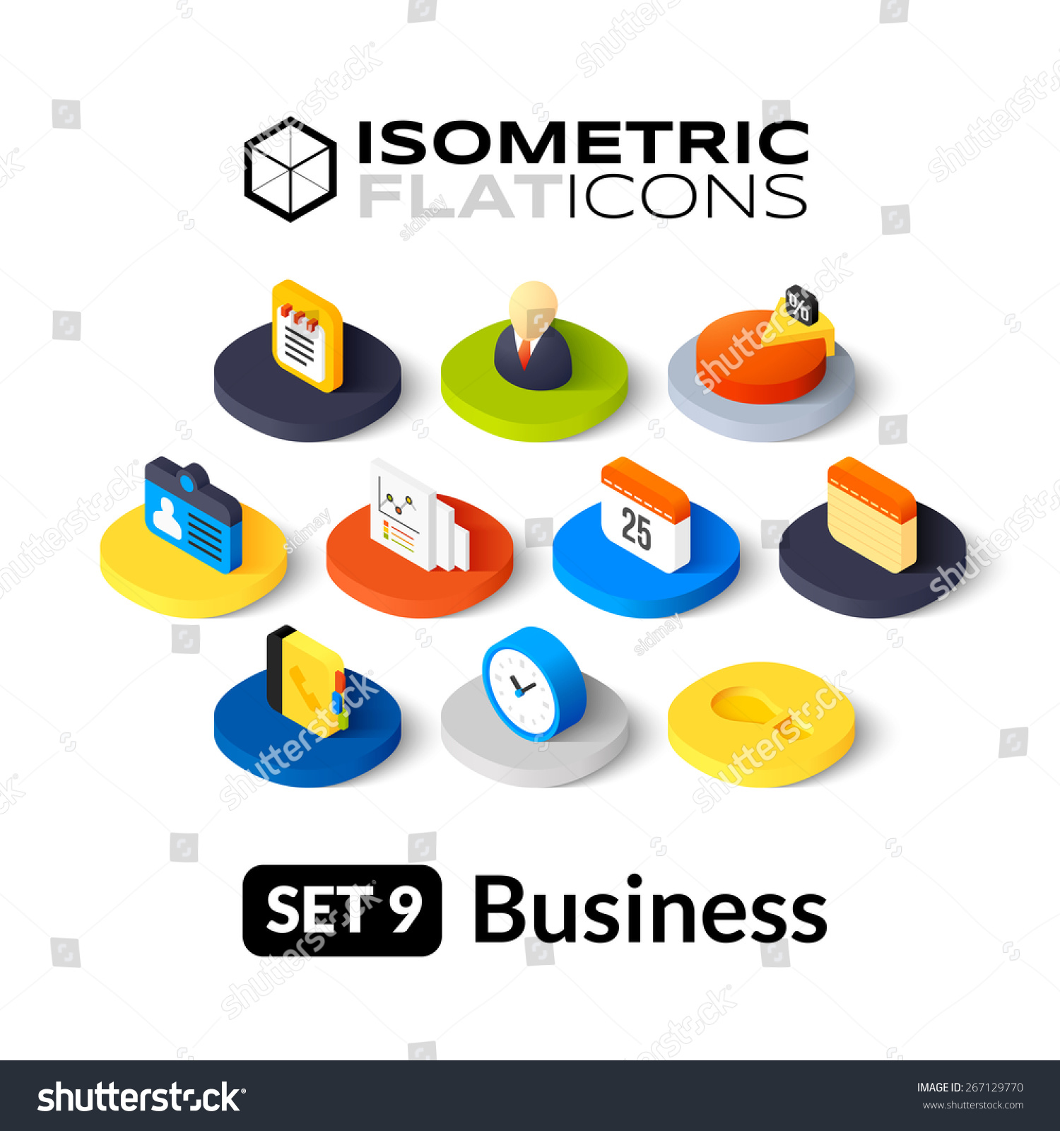 Stock Vector Isometric Flat