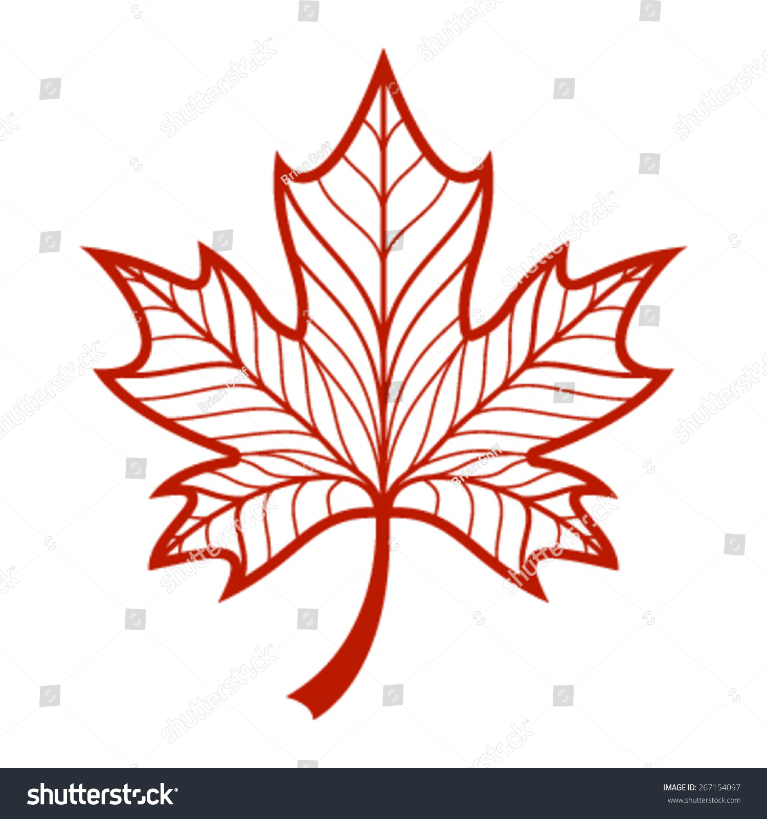 Maple Leaf Vector Icon Stock Vector 267154097 - Shutterstock