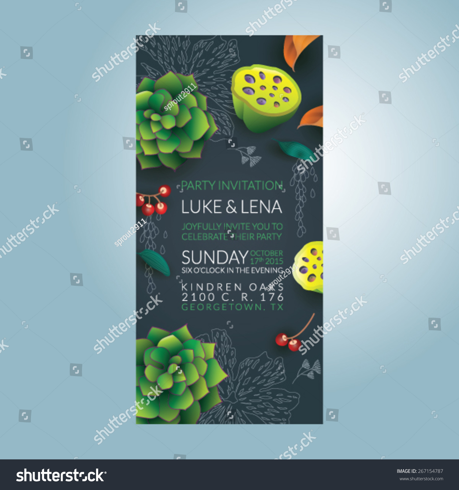 Beautiful vector invitation card eps 10 stock vector 267154787 beautiful vector invitation card eps 10 stopboris Image collections