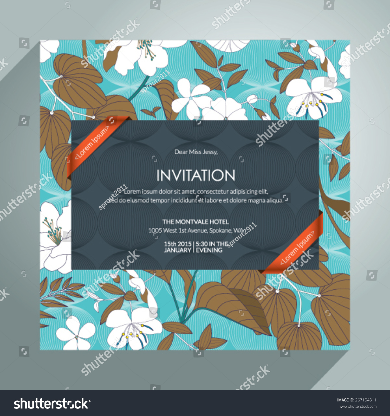 Beautiful vector invitation card eps 10 stock vector 267154811 beautiful vector invitation card eps 10 stopboris Image collections