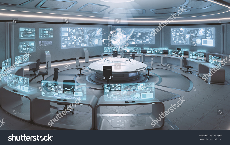 Command Center Interior Stock Photo 267158369 : Shutterstock