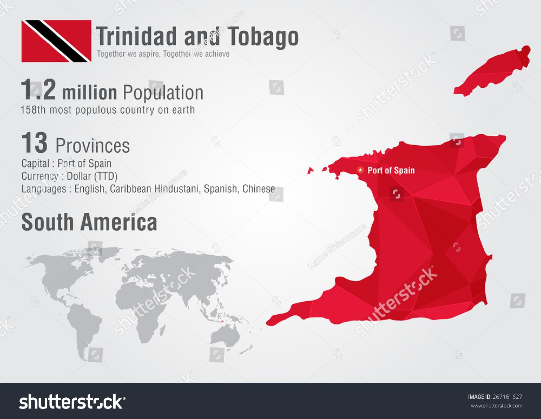 Trinidad tobago world map pixel diamond vectores en stock 267161627 trinidad and tobago world map with a pixel diamond texture world geography gumiabroncs Images