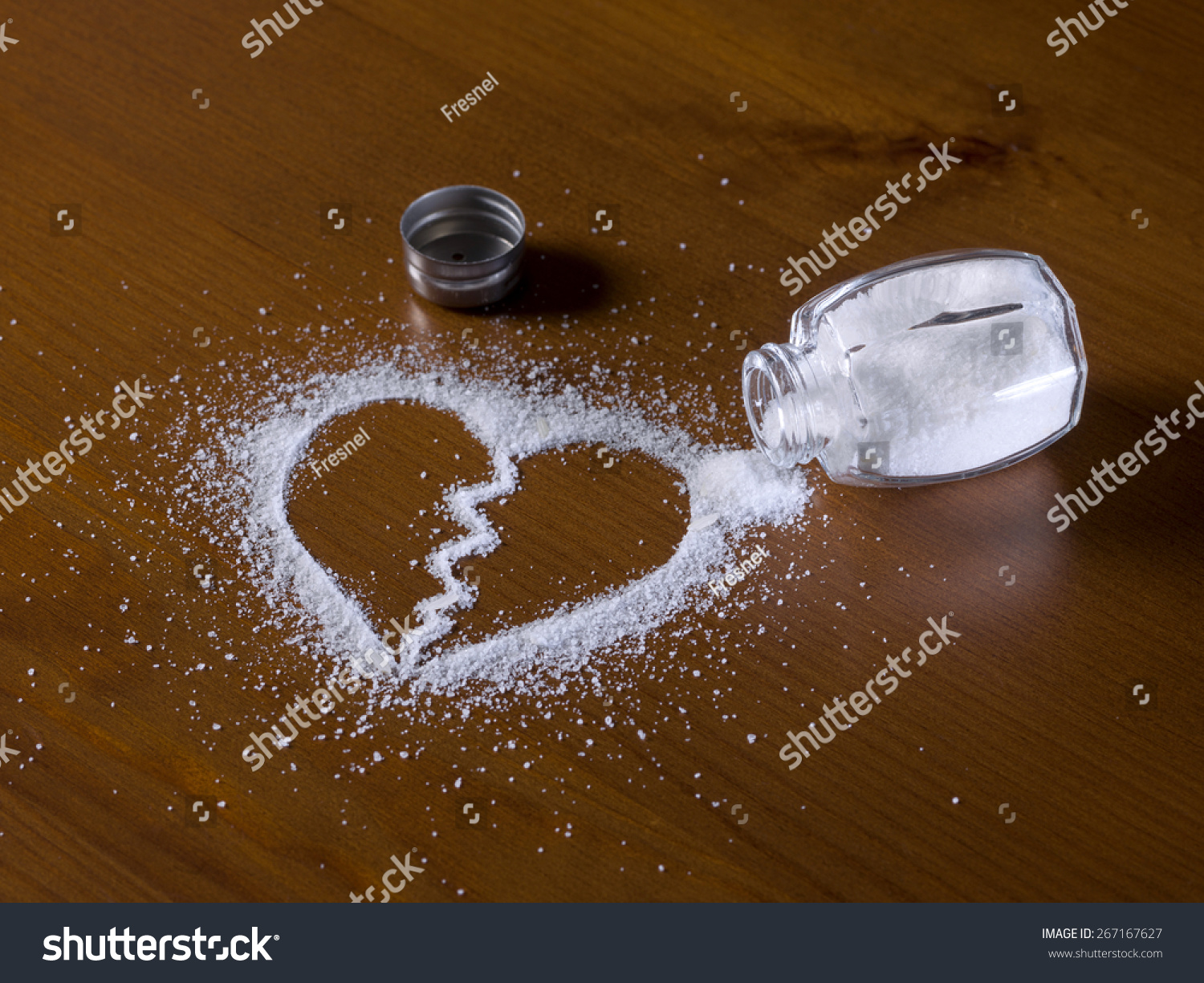 Image result for heart drawn in salt