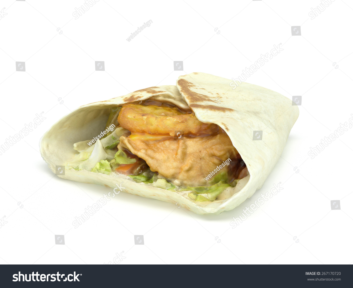 how to make a wrap with pita bread
