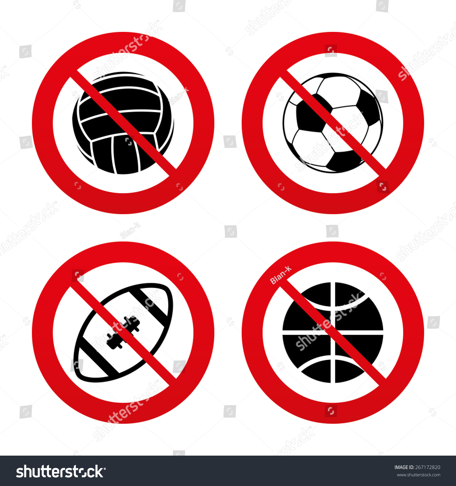 signs sport football ban soccer basketball balls stop american games team volleyball icons vector addresses shutterstock