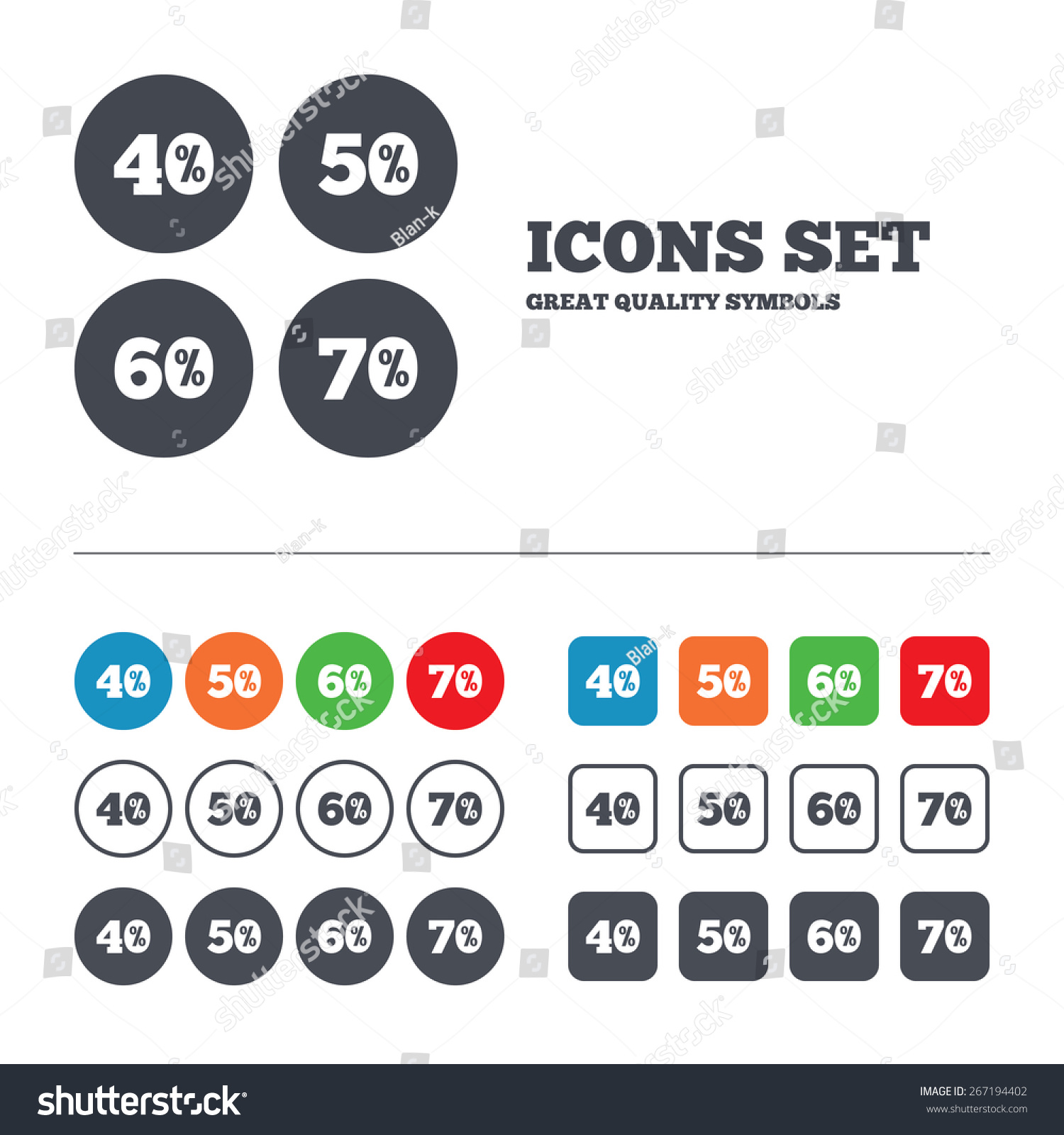 sale discount icons special offer price stock vector royalty free