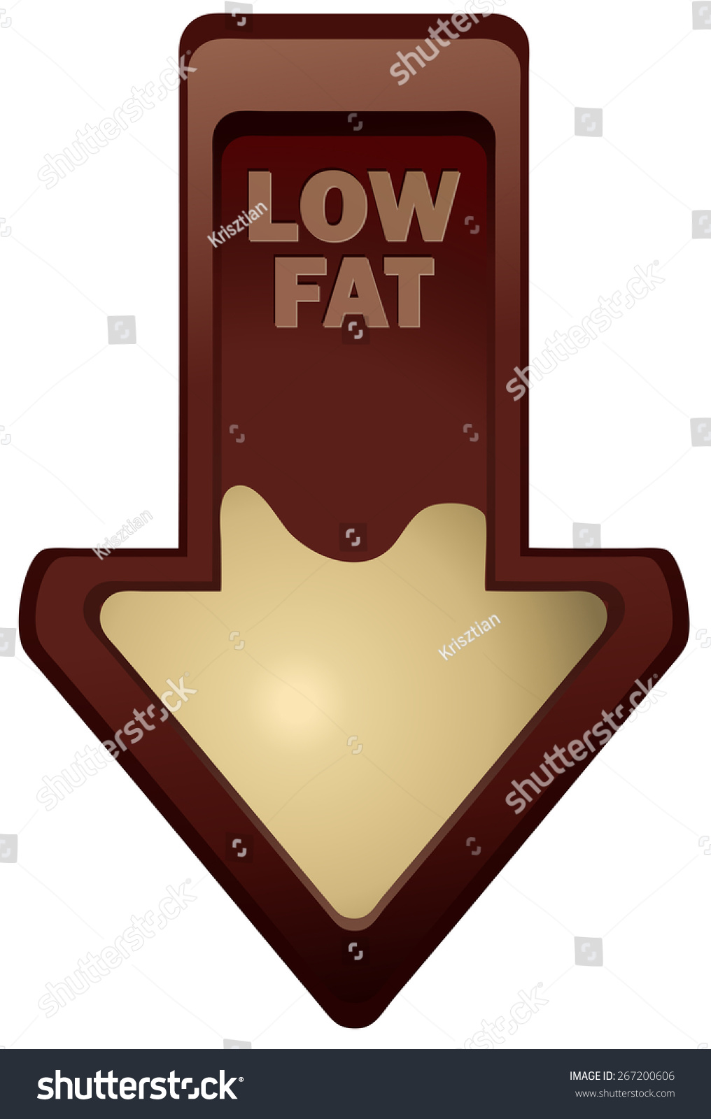 Low fat arrow vector illustration isolated stock vector 267200606 low fat arrow vector illustration isolated on white background biocorpaavc