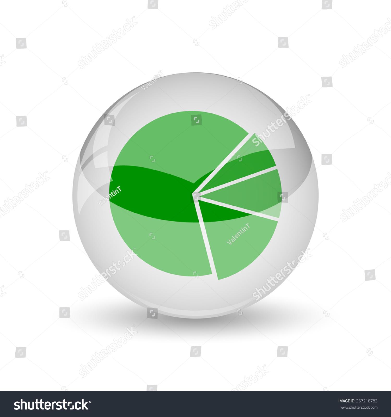 Chart Pie Icon Internet Button On Stock Illustration 267218783