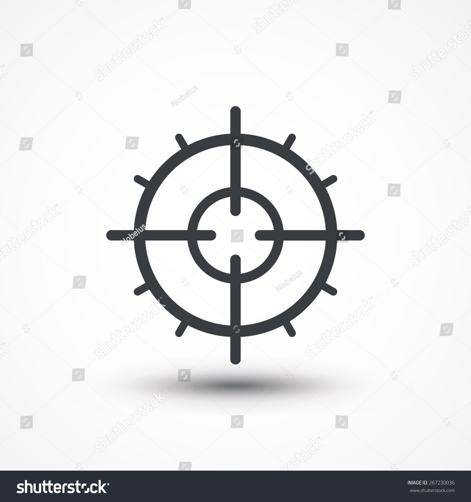 Symbol crosshair infographics style gun target stock vector symbol of crosshair in infographics style gun target icon biocorpaavc Images