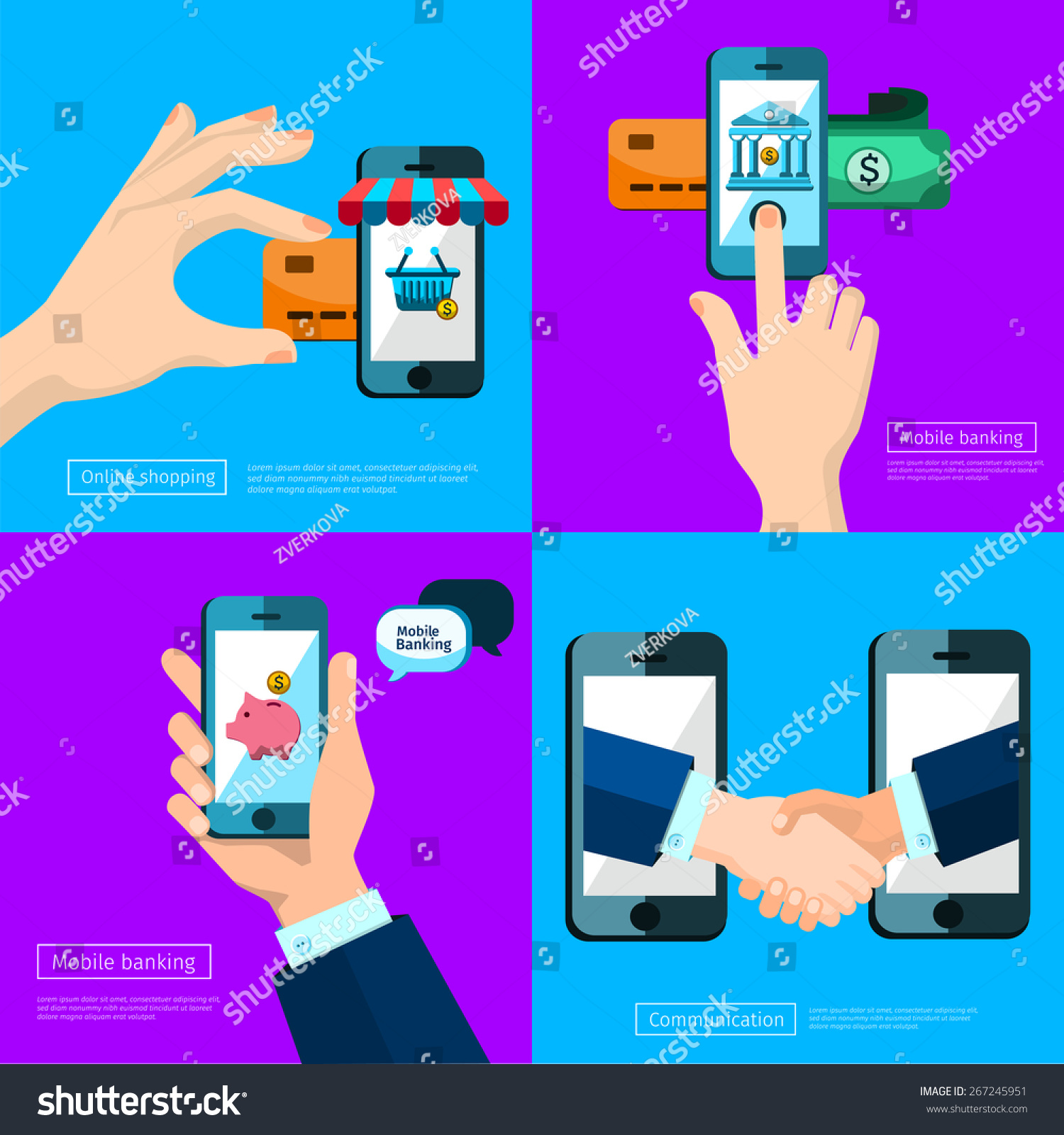 Business Connection Relations Handshake Banking Icons Stock Vector