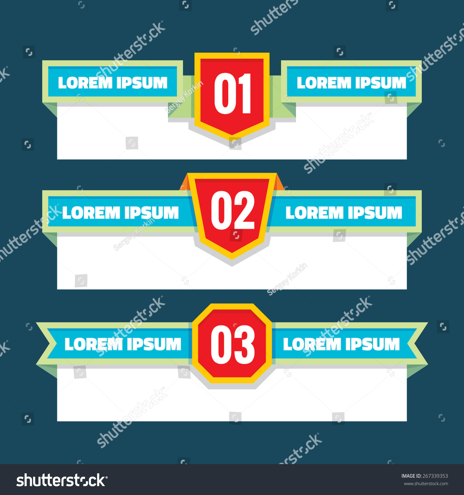 Abstract Top Titles Document Presentation Banner Stock Vector ...