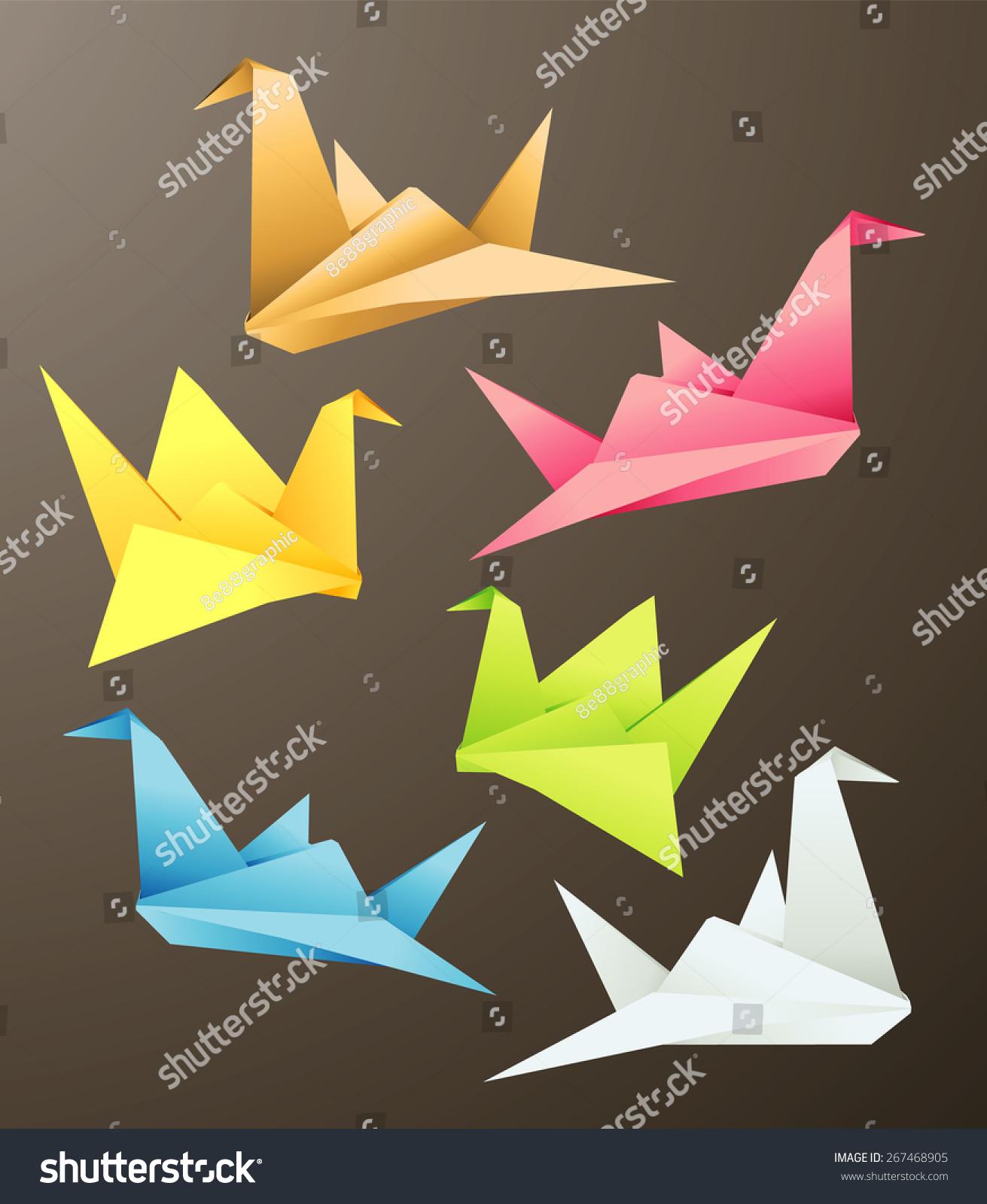Bird origami objects vector illustration stock vector 267468905 bird origami objects vector illustration jeuxipadfo Choice Image
