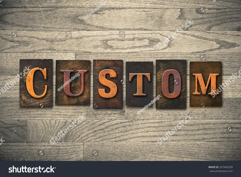 word custom