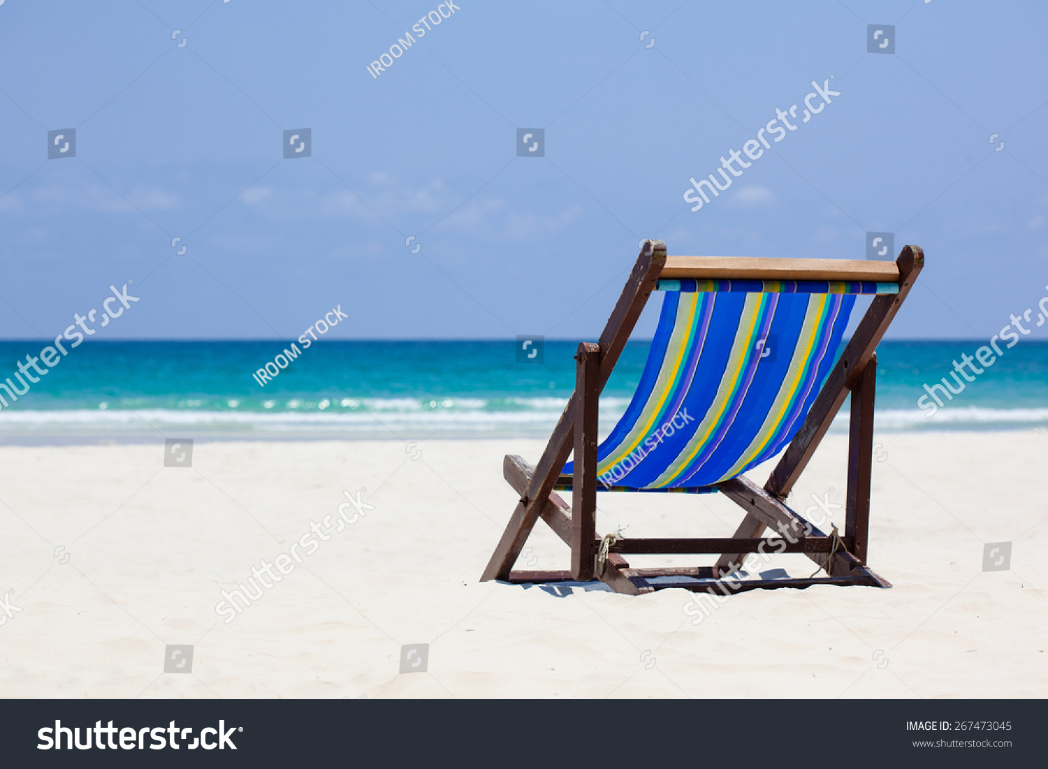 Beach Chair Beautiful Nature Stock Photo 267473045