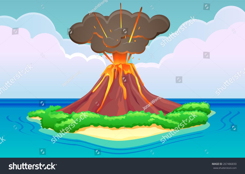 Volcano Island Eruptin...