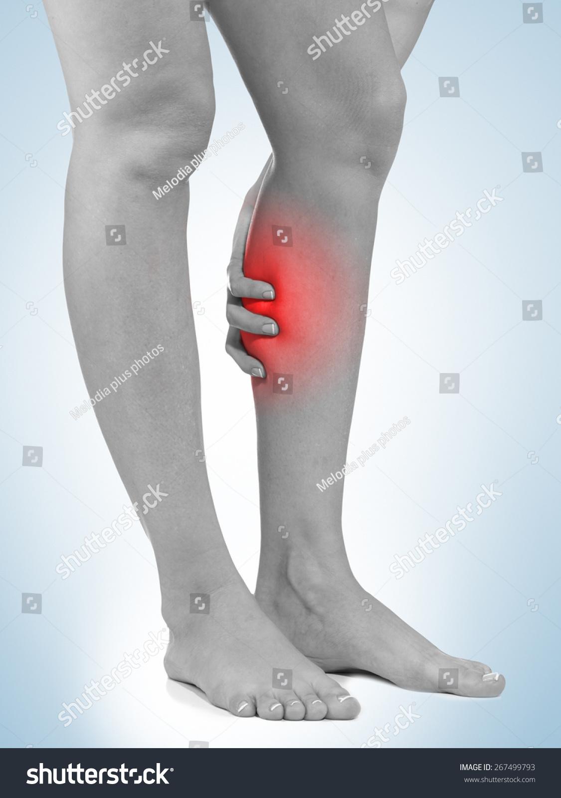 Human Calf Pain Anatomy Injury Caused Stock Photo Edit Now