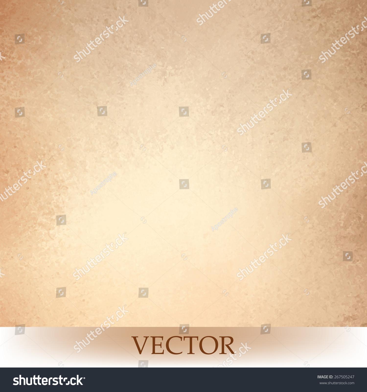 Brown Beige Background Vector Light Orange Or Tan Color Design Vintage Grunge Texture