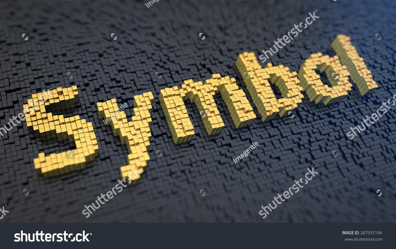 Word symbol yellow square pixels on stock illustration 267531194 word symbol of the yellow square pixels on a black matrix background biocorpaavc