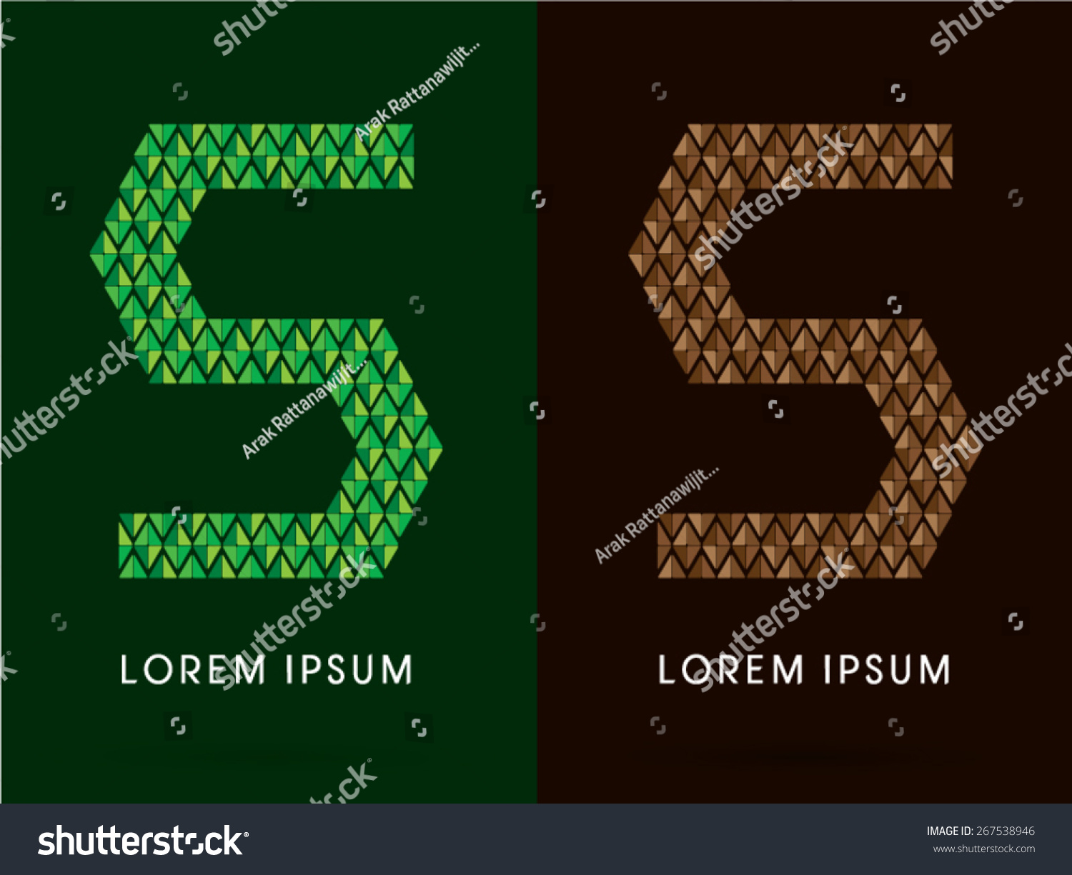 5 s number font concept leaf stock vector 267538946 shutterstock 5 s number font concept leaf and rock designed using green biocorpaavc Gallery