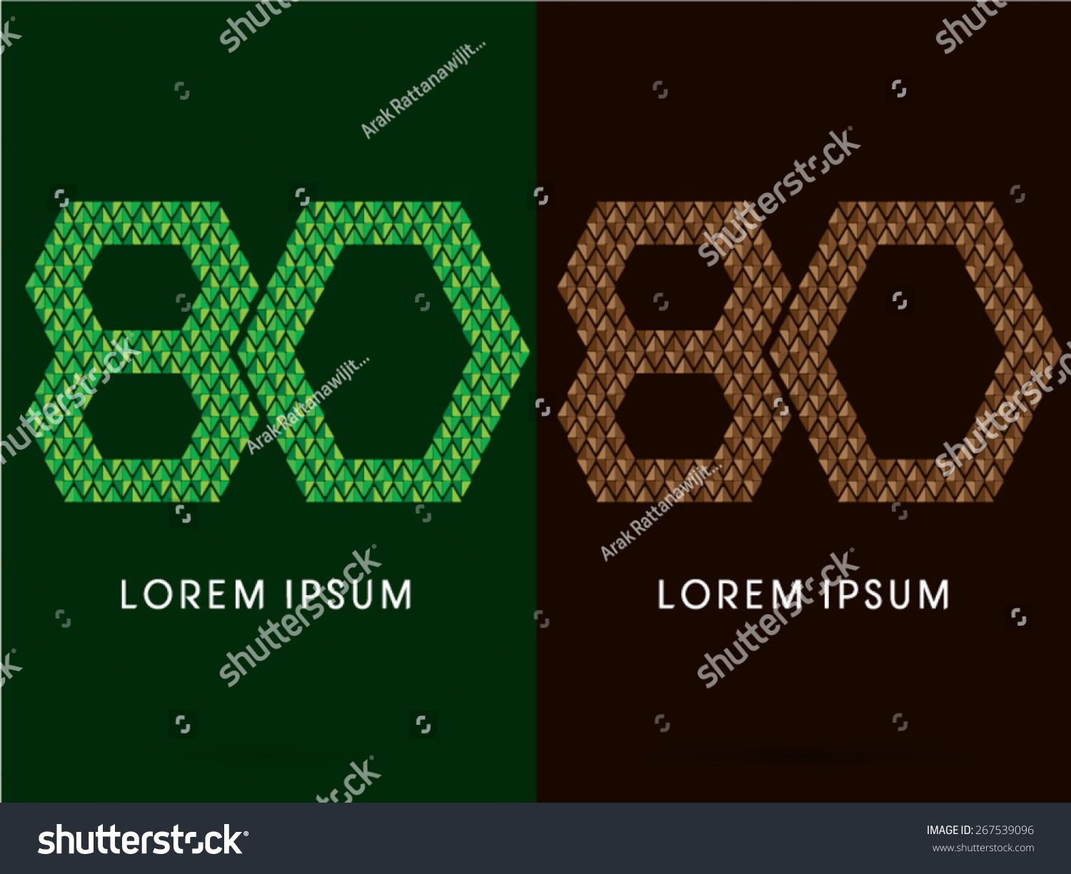 80number font concept leaf rock designed stock vector 267539096 80number font concept leaf and rock designed using green and brown biocorpaavc Gallery
