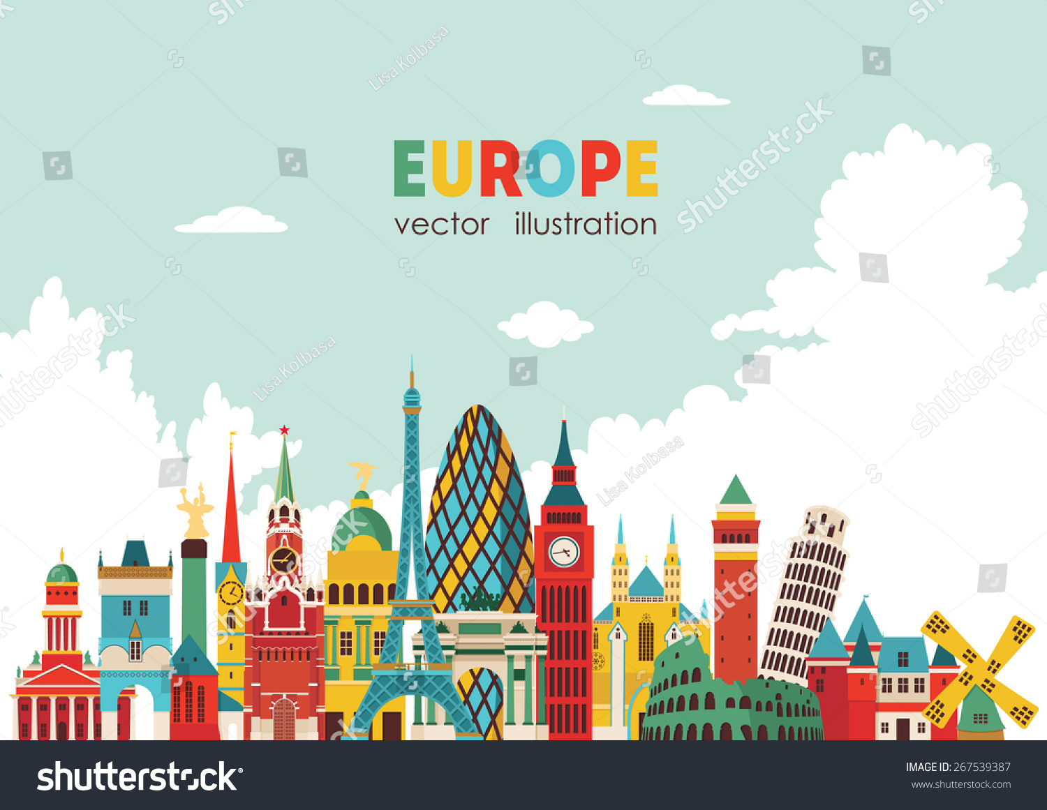 vector illustration of europe - photo #18
