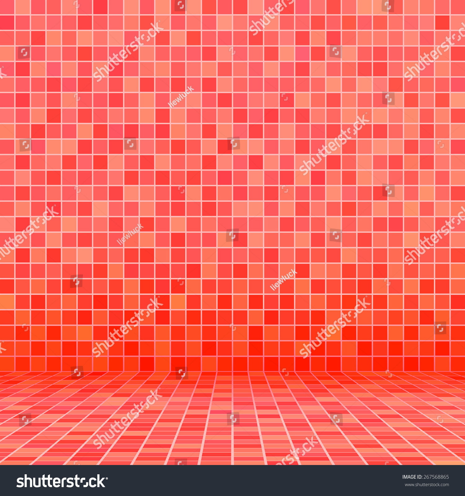 Red Ceramic Tile Mosaic Swimming Pool Stock Vector Royalty Free