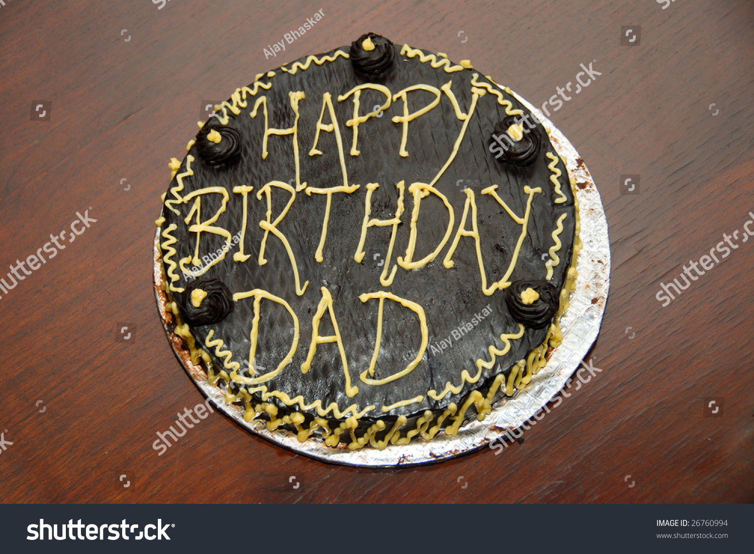 Birthday Cake Dad Stock Photo Royalty Free 26760994 Shutterstock