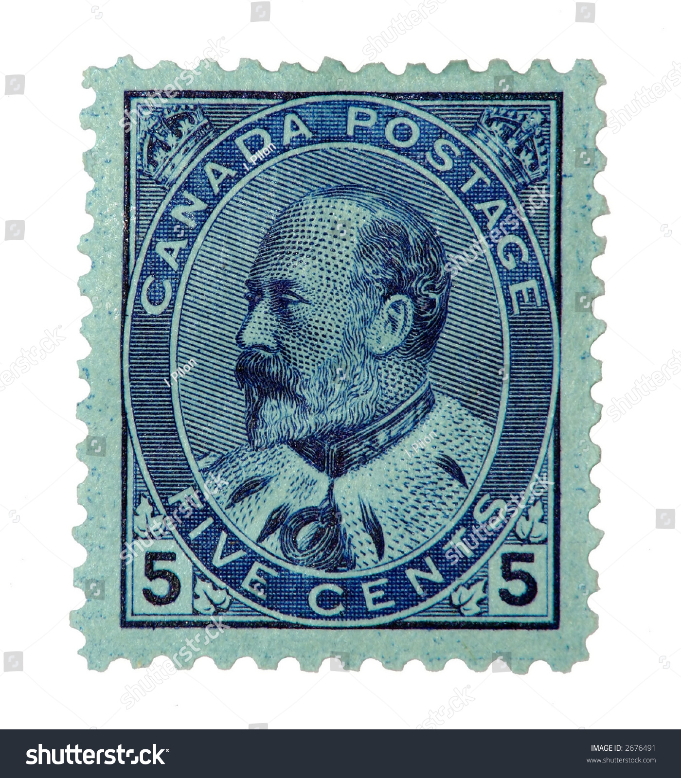 Canadian 5 Cent Postage Stamp Of King Edward VIII Printed In 1903