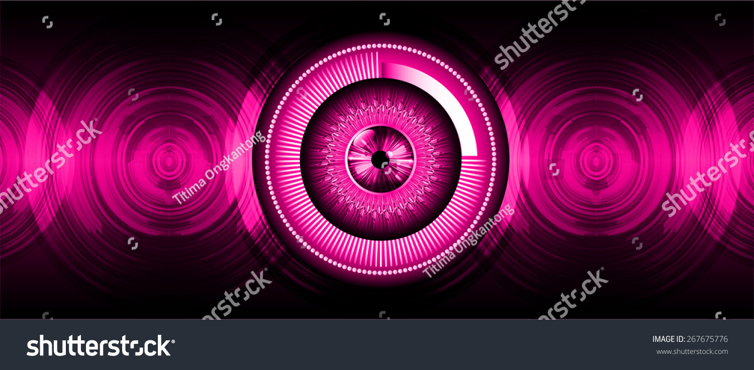 Pink Eyeball Future Technology, Security Concept ...