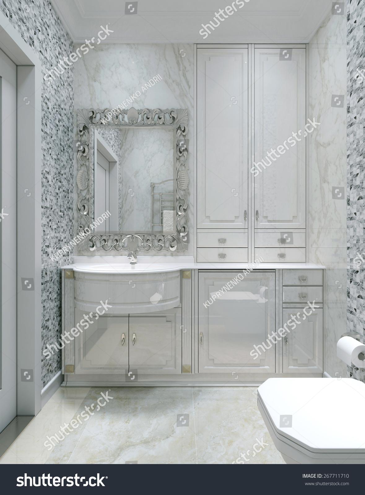 Antique style bathroom - Antique Style Bathroom 3d Render
