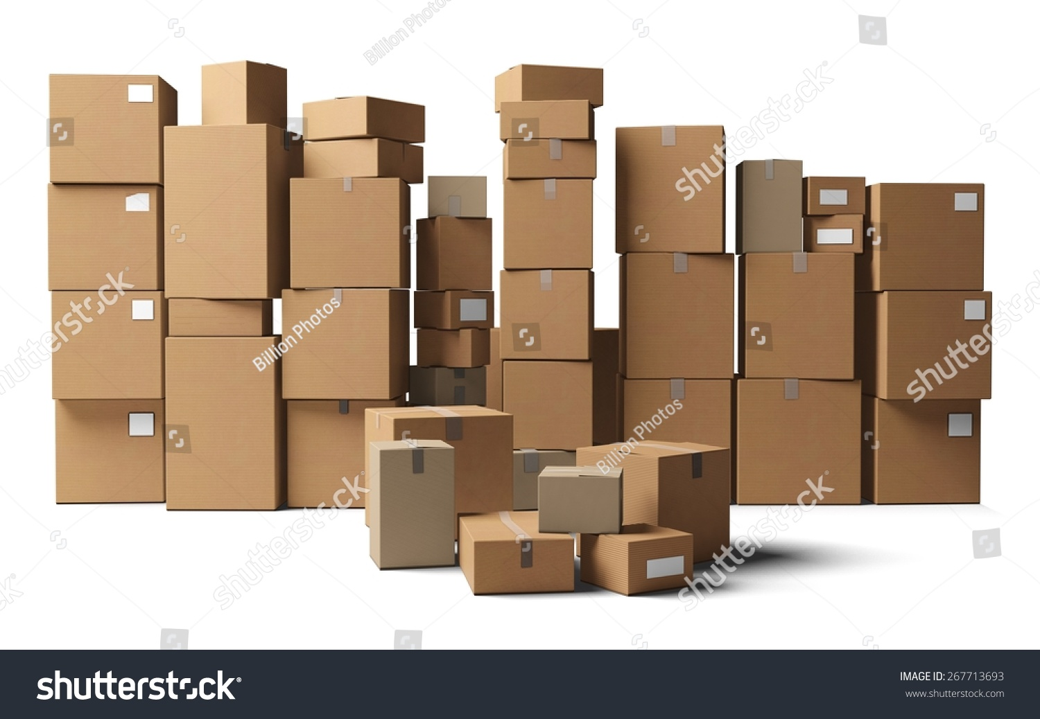 3D Box Moving Office Stack