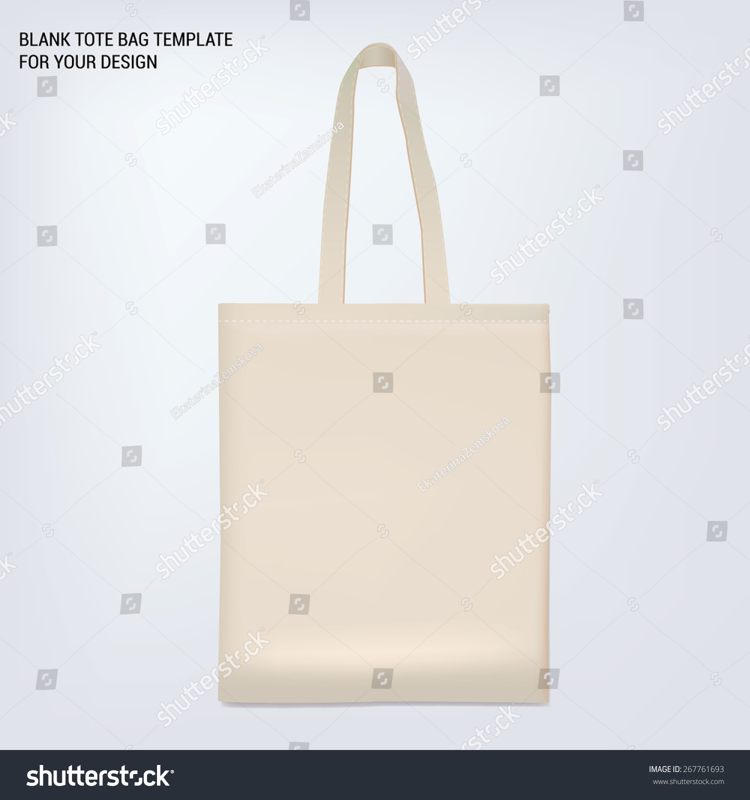 blank white tote bag template your stock vector royalty free
