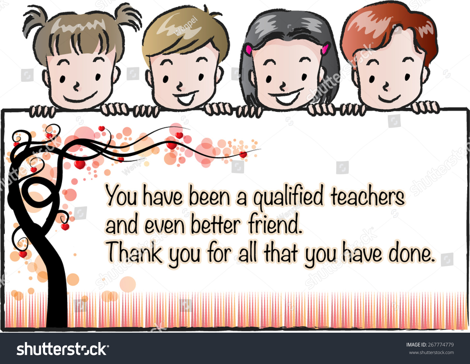 Kids Holding A Greeting Card For Teachers Ez Canvas