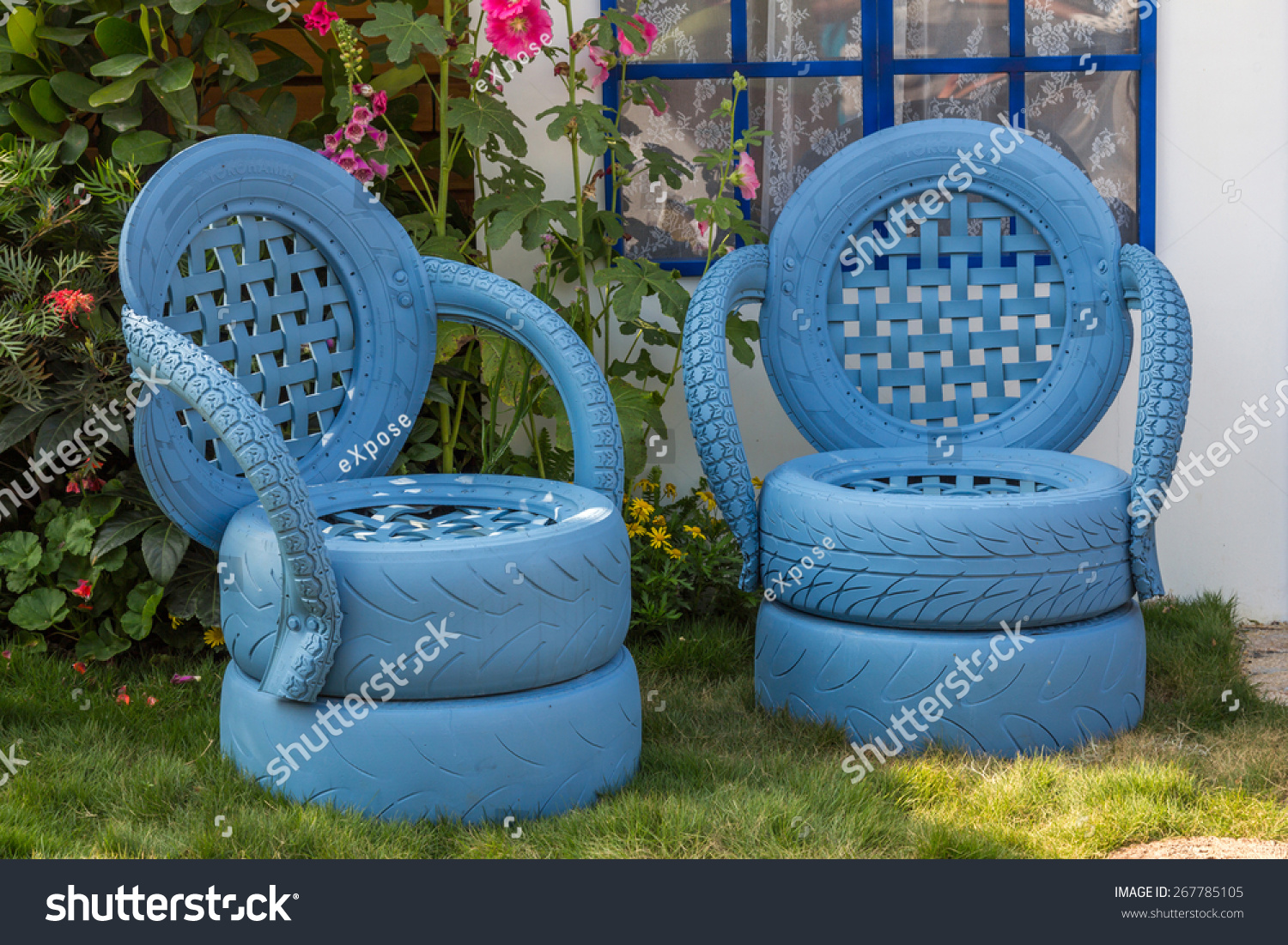 Hong Kong Mar 20 2014 Garden Chairs Made From Recycled