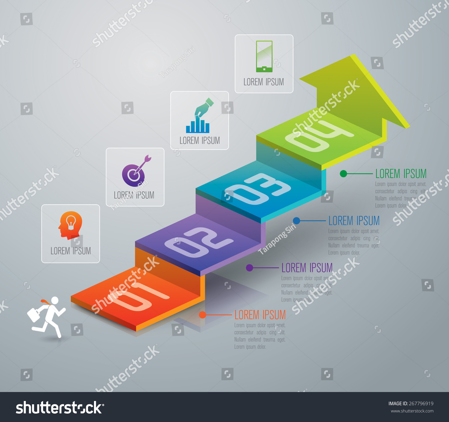 Infographic Design Template Marketing Icons Business Stock Vector ...