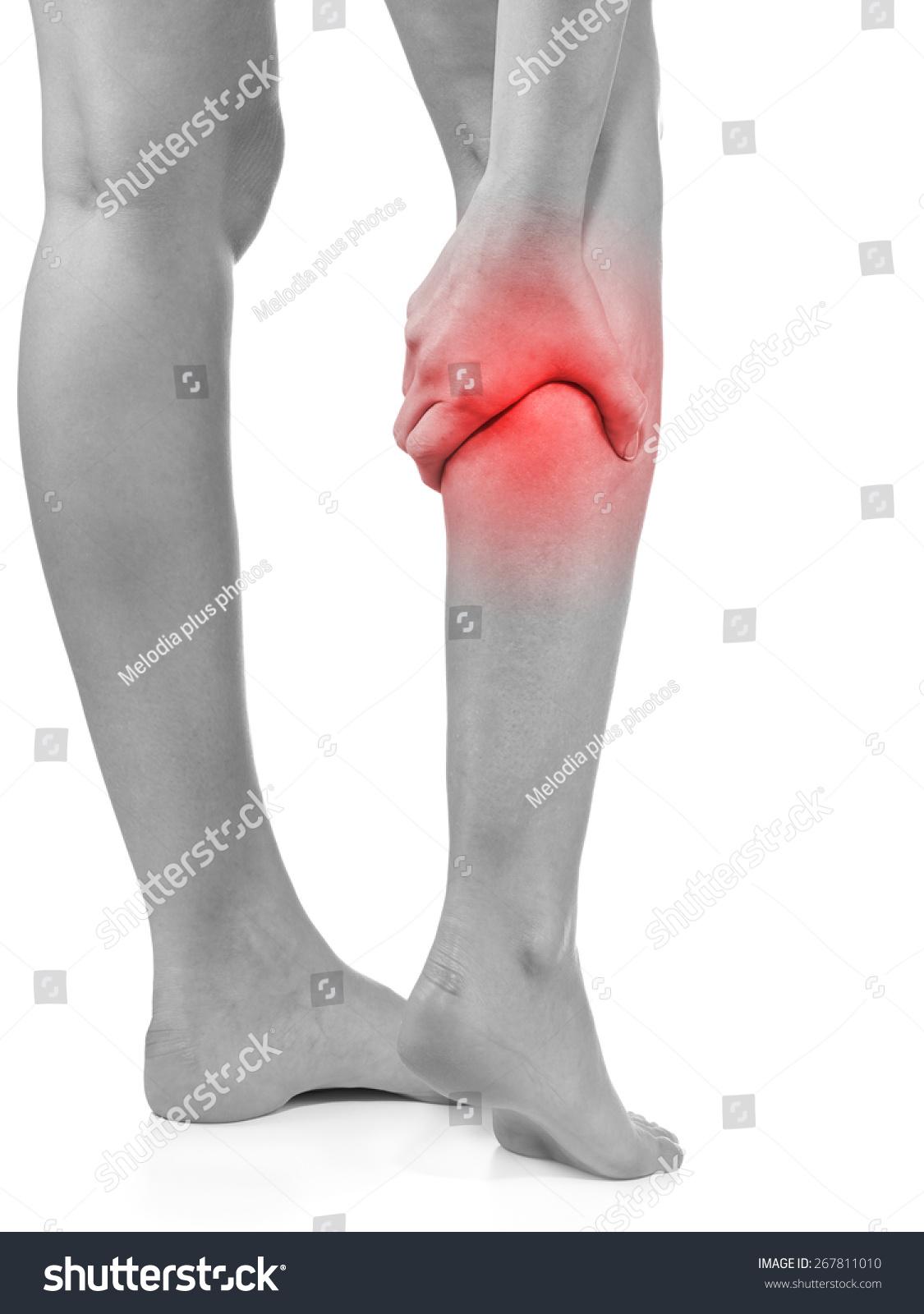 Human Calf Pain Anatomy Injury Caused Stock Photo (Safe to Use ...