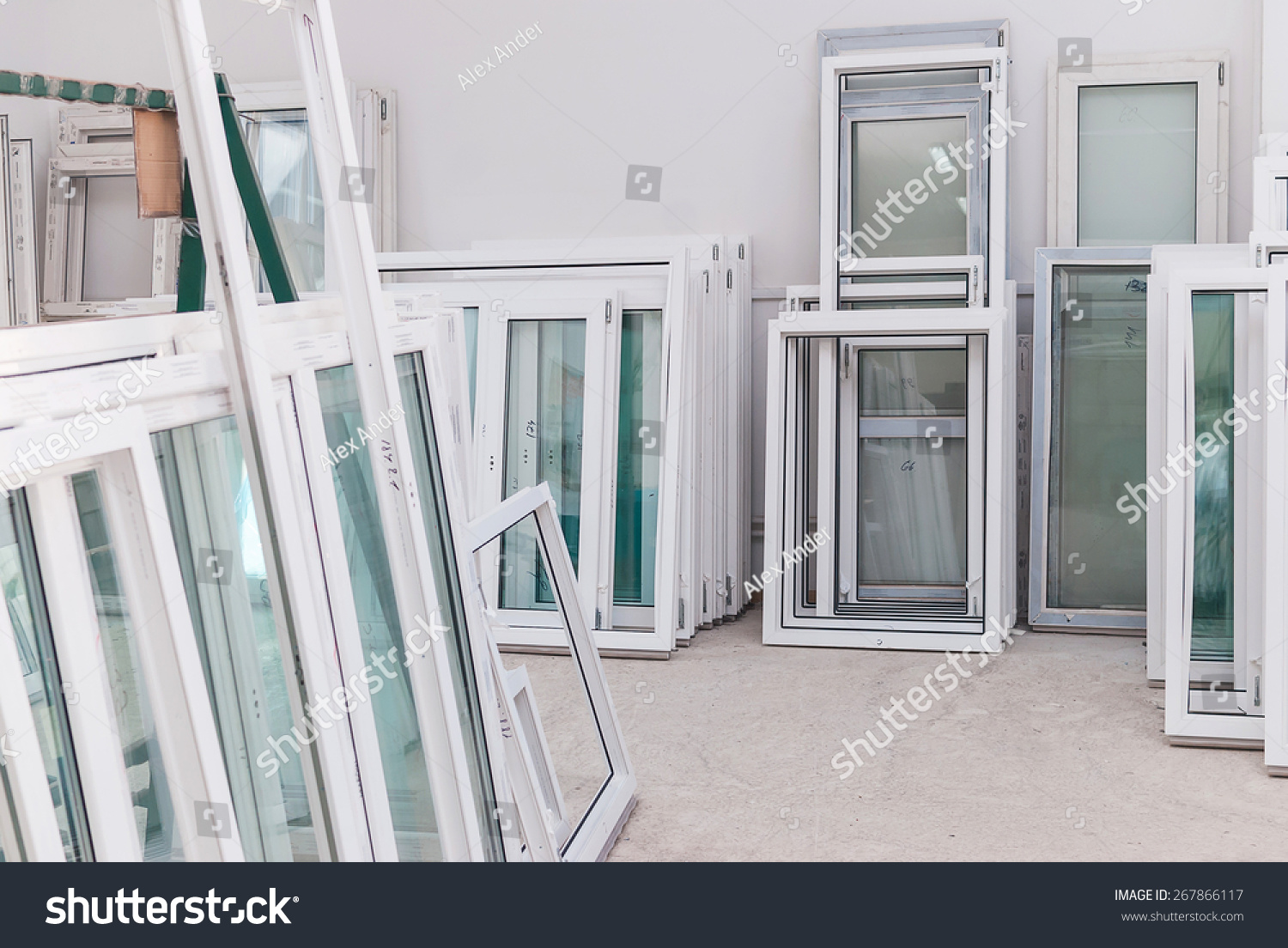 PVC Windows Doors Manufacturing Window Frame Stock Photo (Royalty ...
