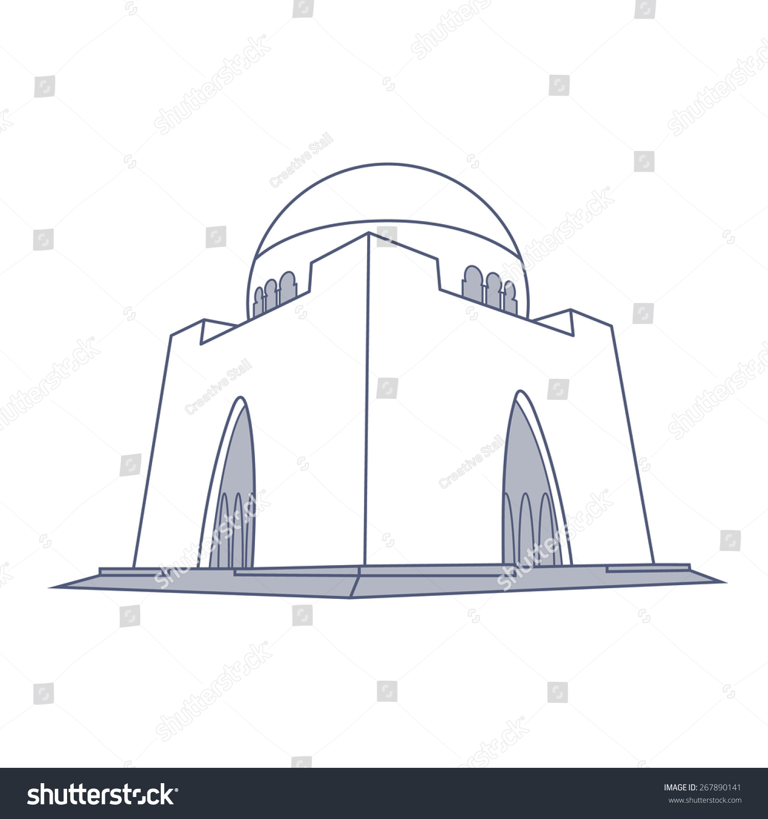 Line Drawing Of Quaid E Azam : Quaid e azam tomb karachi stock vector