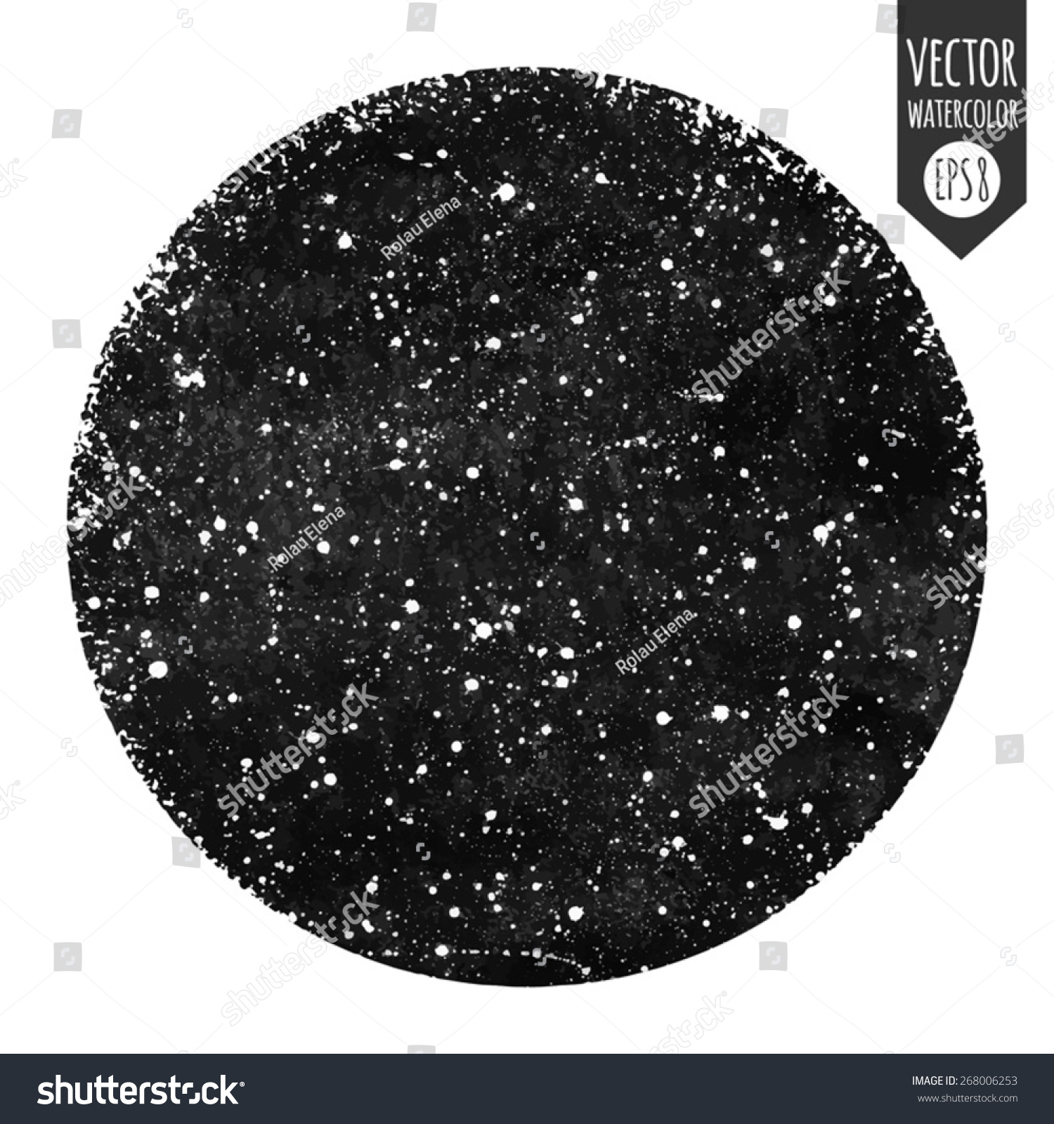 Watercolor Starry Sky Tutorial Stock Vector Black And White Hand Drawn Watercolor