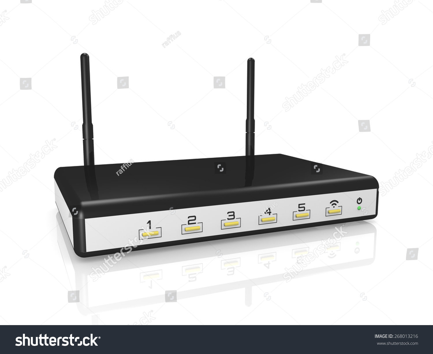 Modem Router Wireless White Background 3d Stockillustration ...