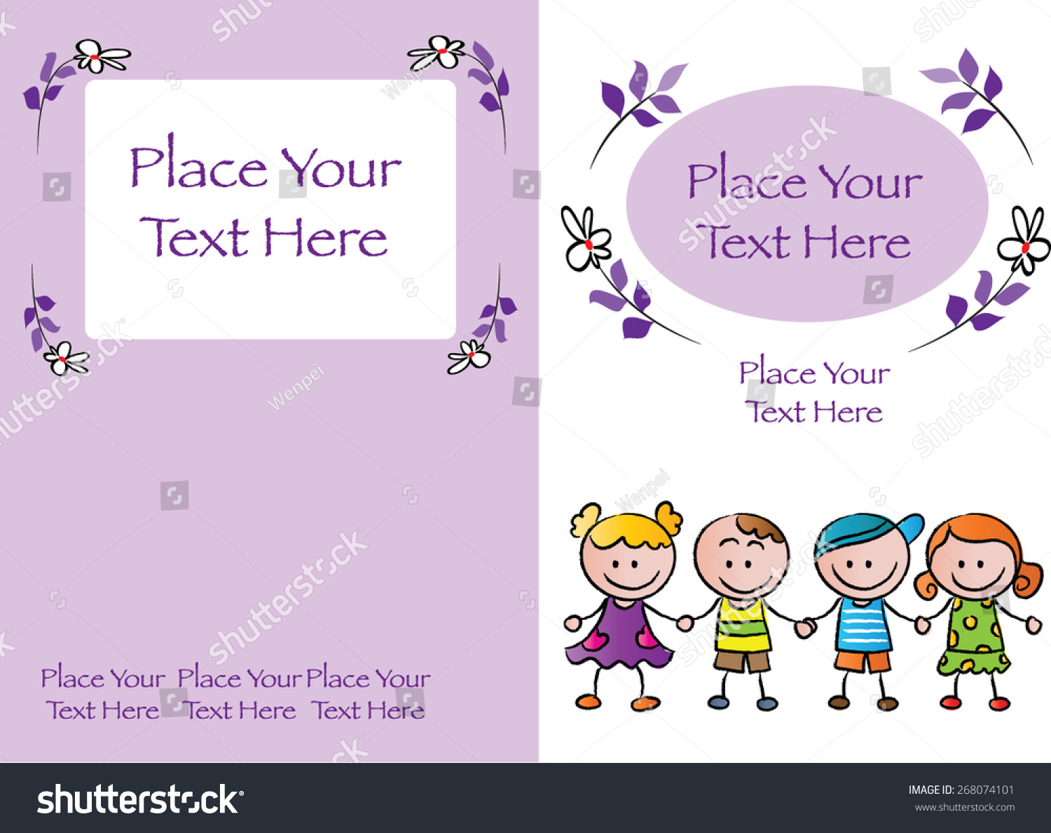 Kids Book Cover Background : Kids book cover design purple background stock vector