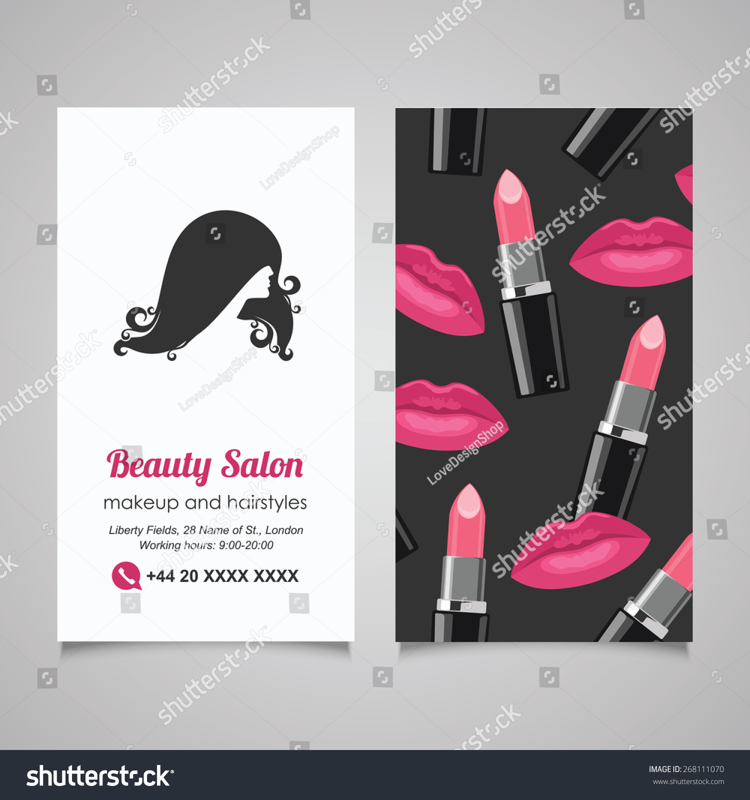 Lovely Images Of Hair Salon Business Cards - Business Cards and ...