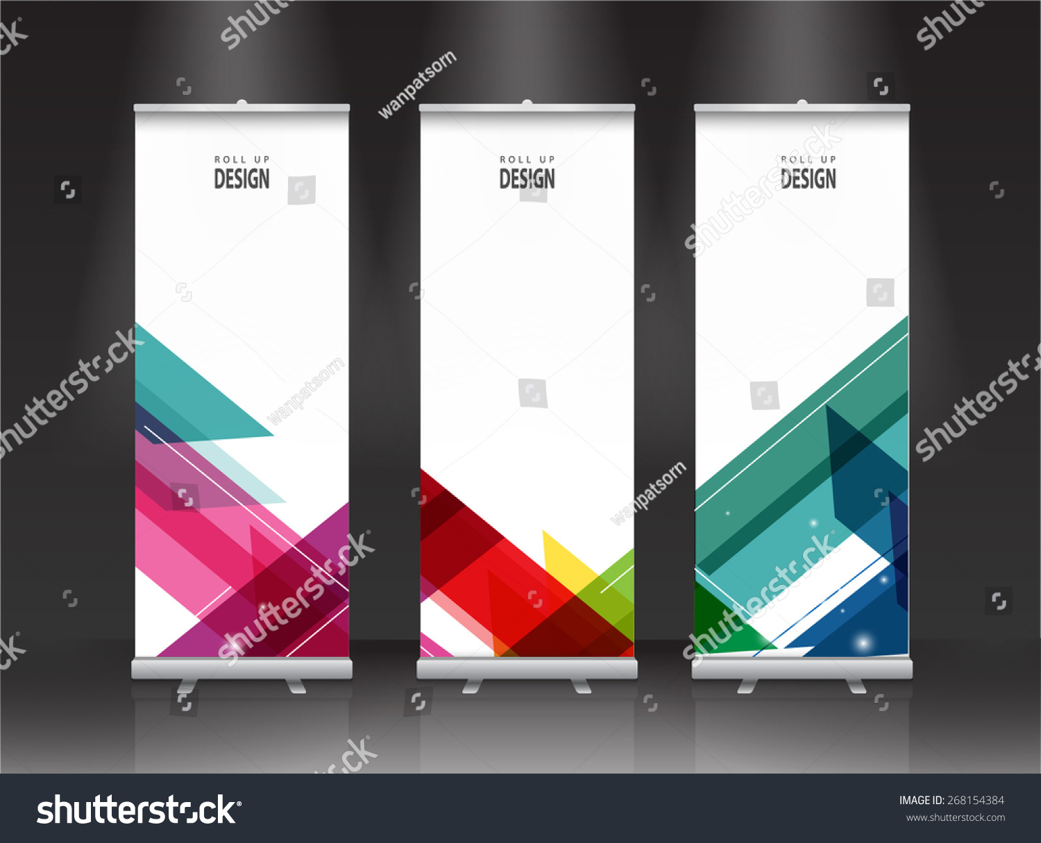 Exhibition Stand Design Template : Roll banner stand design vector stock