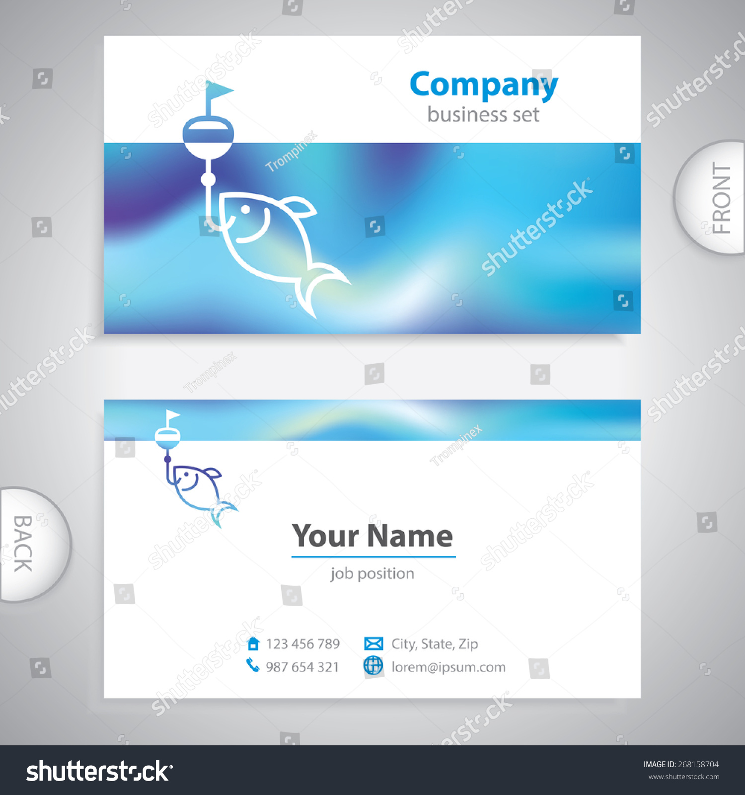 Business Card Fishing Lures Nautical Symbol Stock Vector (2018 ...
