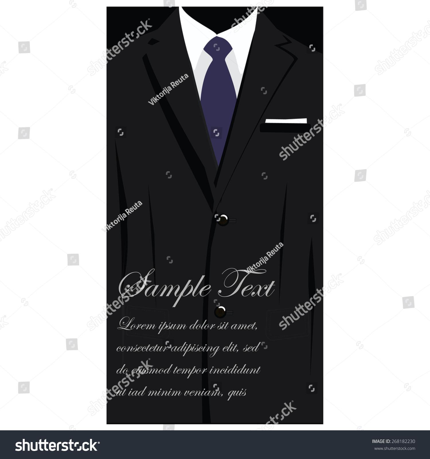 Vector Business Cards Elegant Suit Blue Stock Vector 268182230 ...