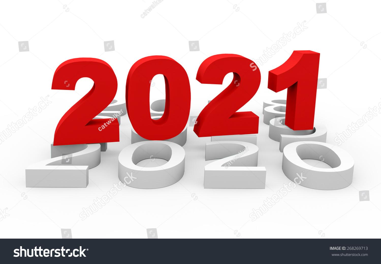 3d Render New Year 2021 Next Stock Illustration 268269713 ...
