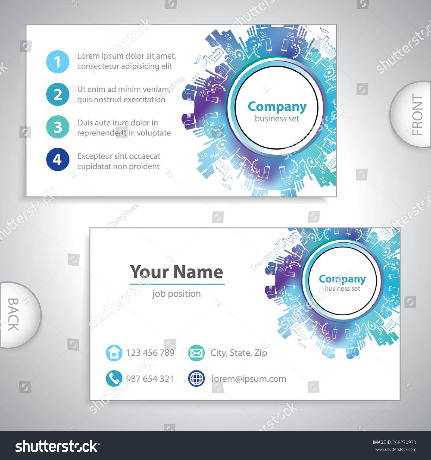 Business card abstract industrial building factory stock vector business card abstract industrial building factory silhouettes heavy industry power plants icon magicingreecefo Gallery