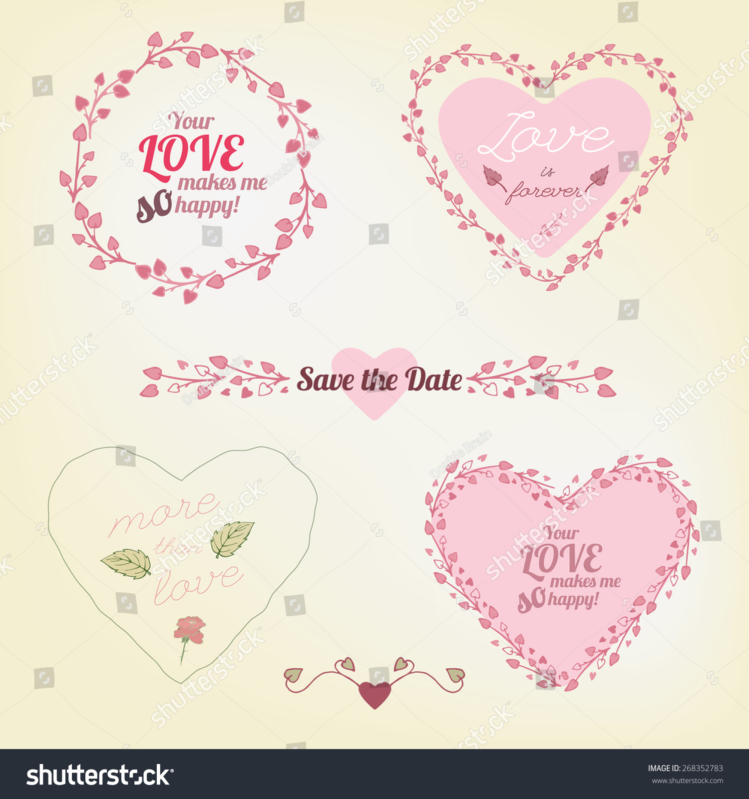 Different Ready To Print Save The Date And Greetings Cards Hand